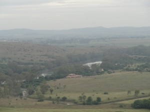 View from koppie on Savannah Rhino Trail Savannah Game and River Resort Lodge can be seen